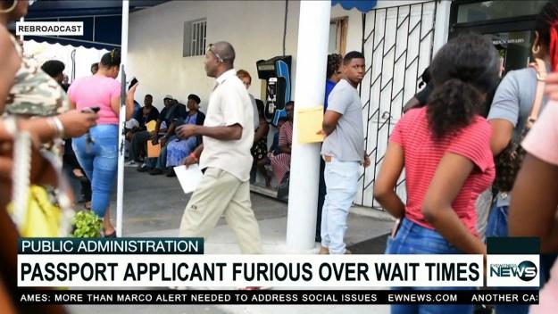 Chaos erupts at passport office