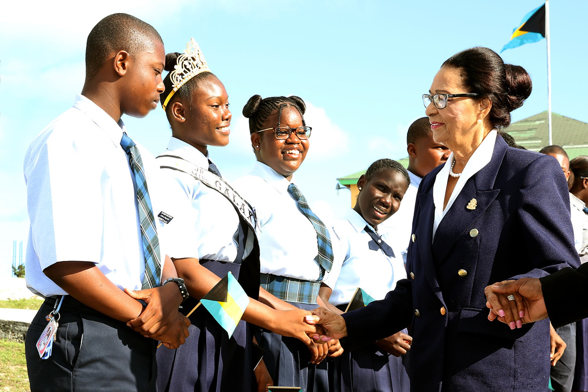 GG makes official visit to schools on Cat Island