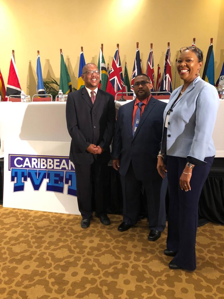 BTVI's team presents at TVET conference