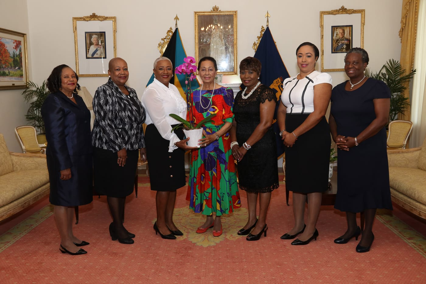 Senators visit Her Excellency The Most Honorable Dame Marguerite Pindling