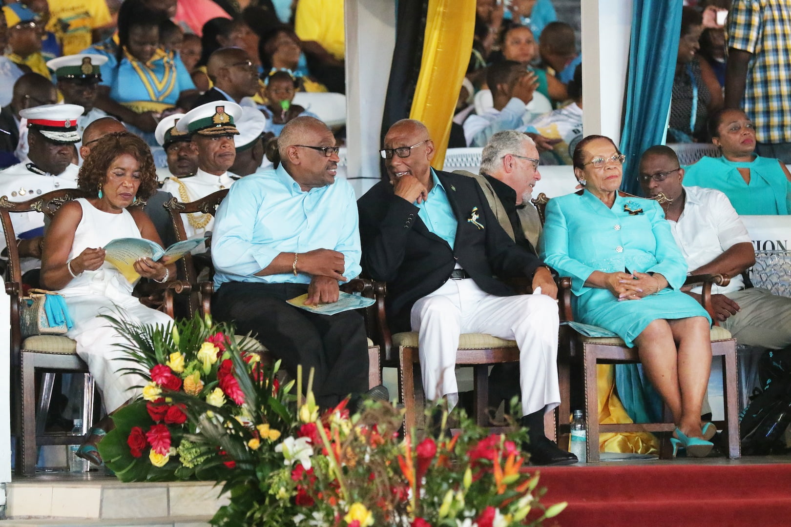 The Governor General and PM enjoy independence celebrations