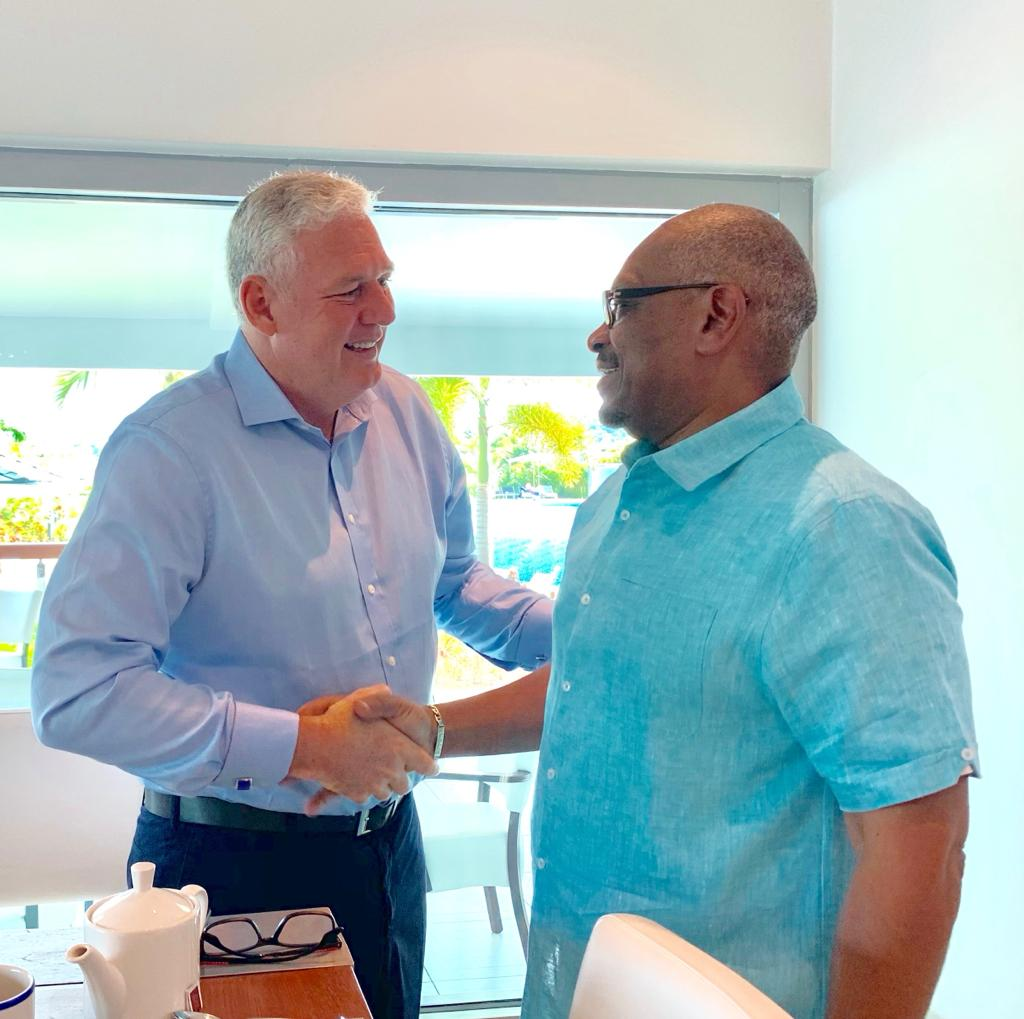 PM Minnis has briefing with St. Lucia's Prime Minister Allen Chastanet