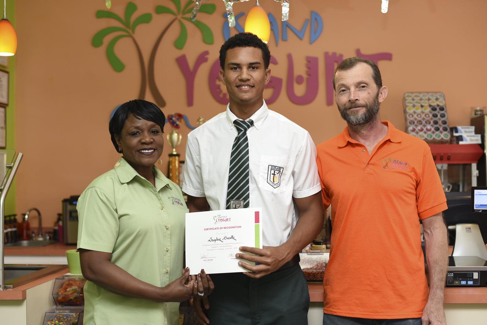 Island Yogurt hosts student recognition event