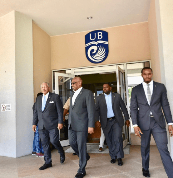 PM visits first recipients of the govt's free education programme at UB