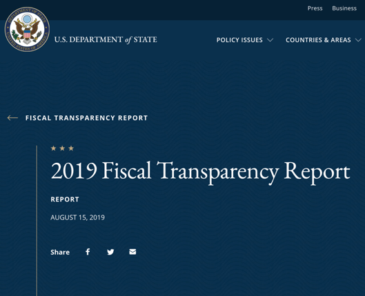 Govt. satisfied with fiscal transparency advancements, notwithstanding US report