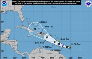 Tropical Storm Dorian strengthens