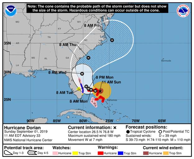 Record breaking storm impacting the Northwestern Bahamas