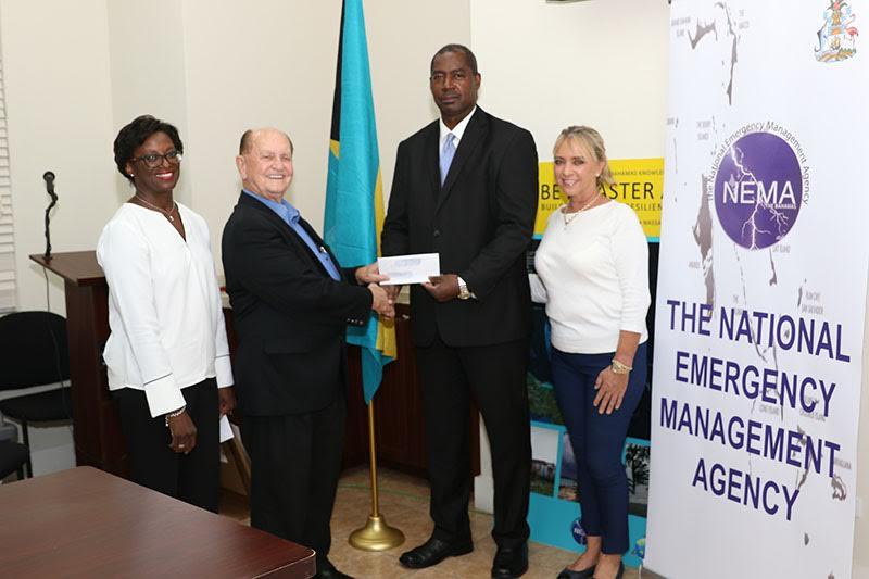Super Value presents $110,000 to NEMA for Hurricane Relief Efforts