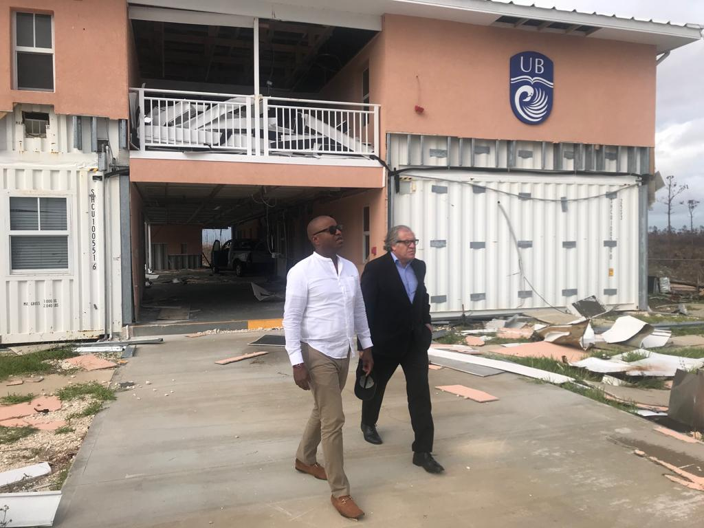 OAS Secretary General visits communities impacted by Hurricane Dorian