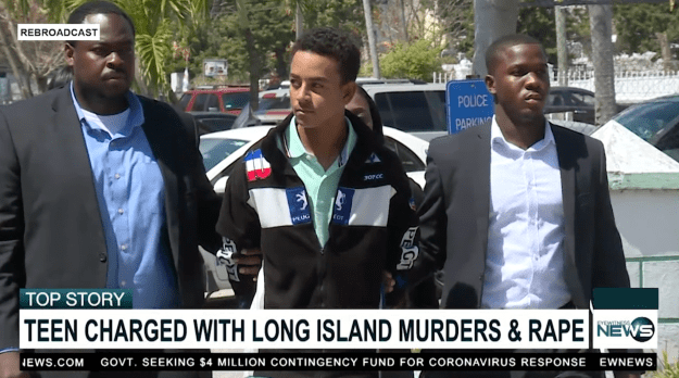 TEEN CHARGED WITH LONG ISLAND MURDERS AND RAPE