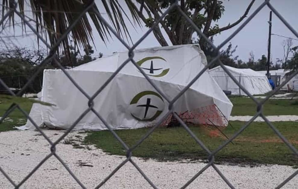 Severe weather lashes GB tent hospital
