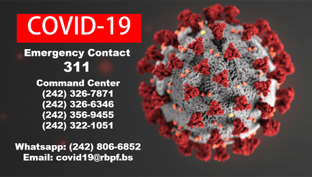 WhatsApp line created for COVID19 command center: TEXT 1 242 806-6852