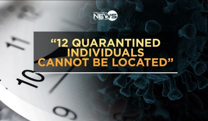 Health officials unable to find 12 quarantined individuals