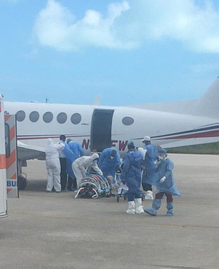 Suspected COVID-19 patient lands in Exuma, airlifted to NP
