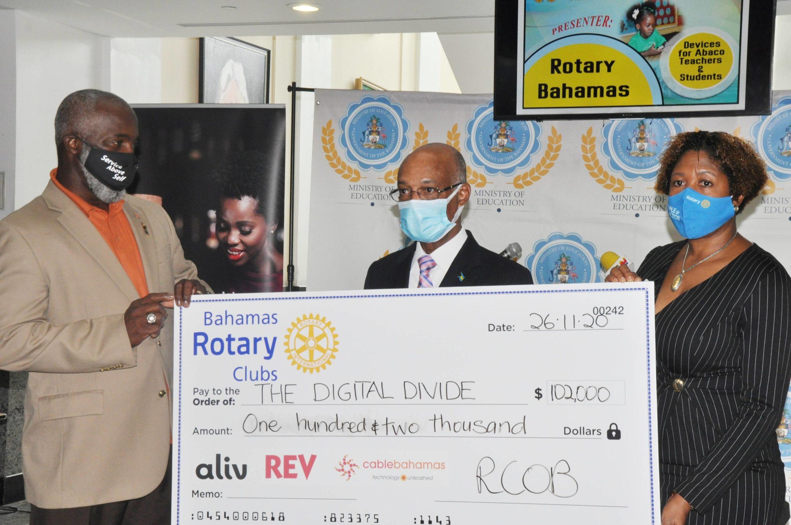 Rotary donates $102K to digital divide initiative