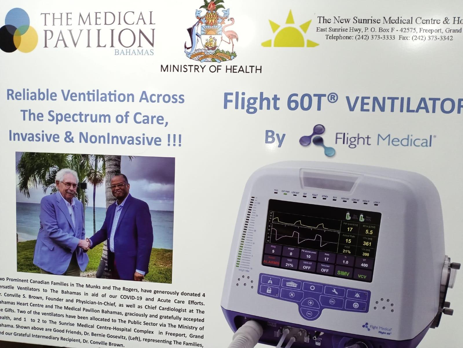 Min of Health receives additional ventilators