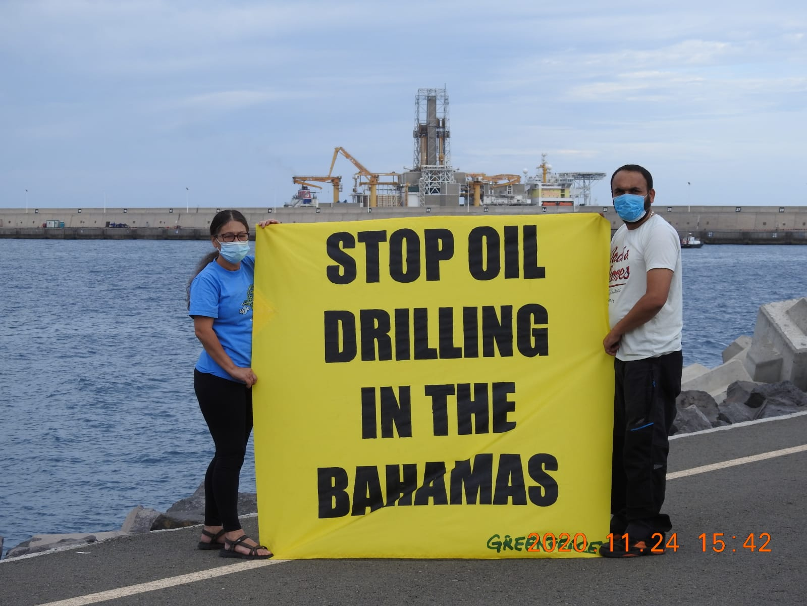 Greenpeace lends support to oil drilling protest