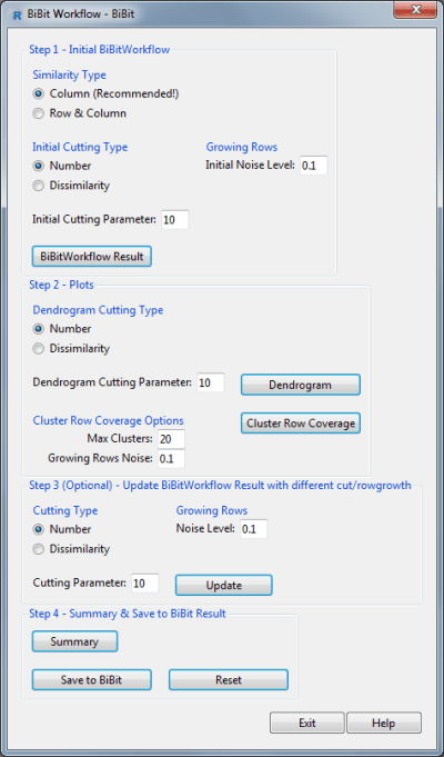 BiBit Workflow Window