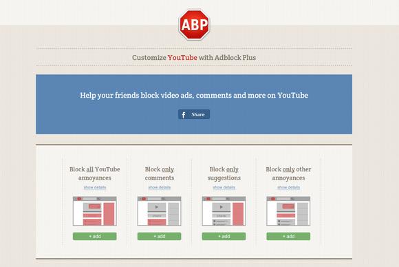 How to erase YouTube clutters with AdBlock Plus