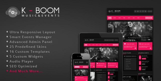K-BOOM – Events & Music Responsive WordPress Theme