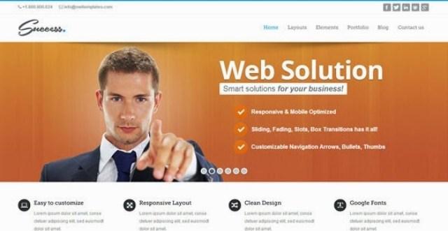 Success – WordPress Bootstrap Theme