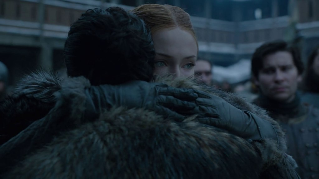 Sansa Stark reunites with Jon Snow in Game of Thrones Season 8, Premier.