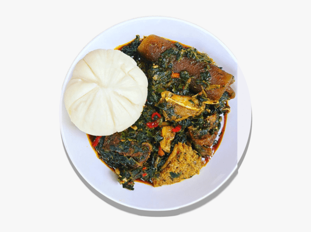Pounded Yam and Afang Soup