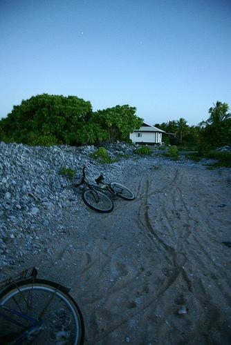 Tahiti - Manihi - sunset 夕焼けを見に
