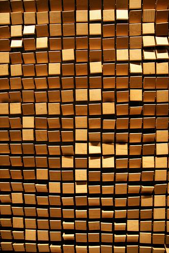 W Seoul - Walkerhill / Wooden Mirror - Daniel Rozin Wホテル ソウル・ウォーカーヒルのインタラクティブアート作品