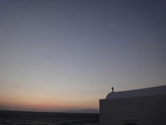 Church of Panagia Paraportiani ミコノス島 - パラポルティアニ教会と夕日