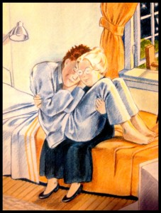 A scene from Love You Forever, by Robert Munsch. Totally normal behaviour.