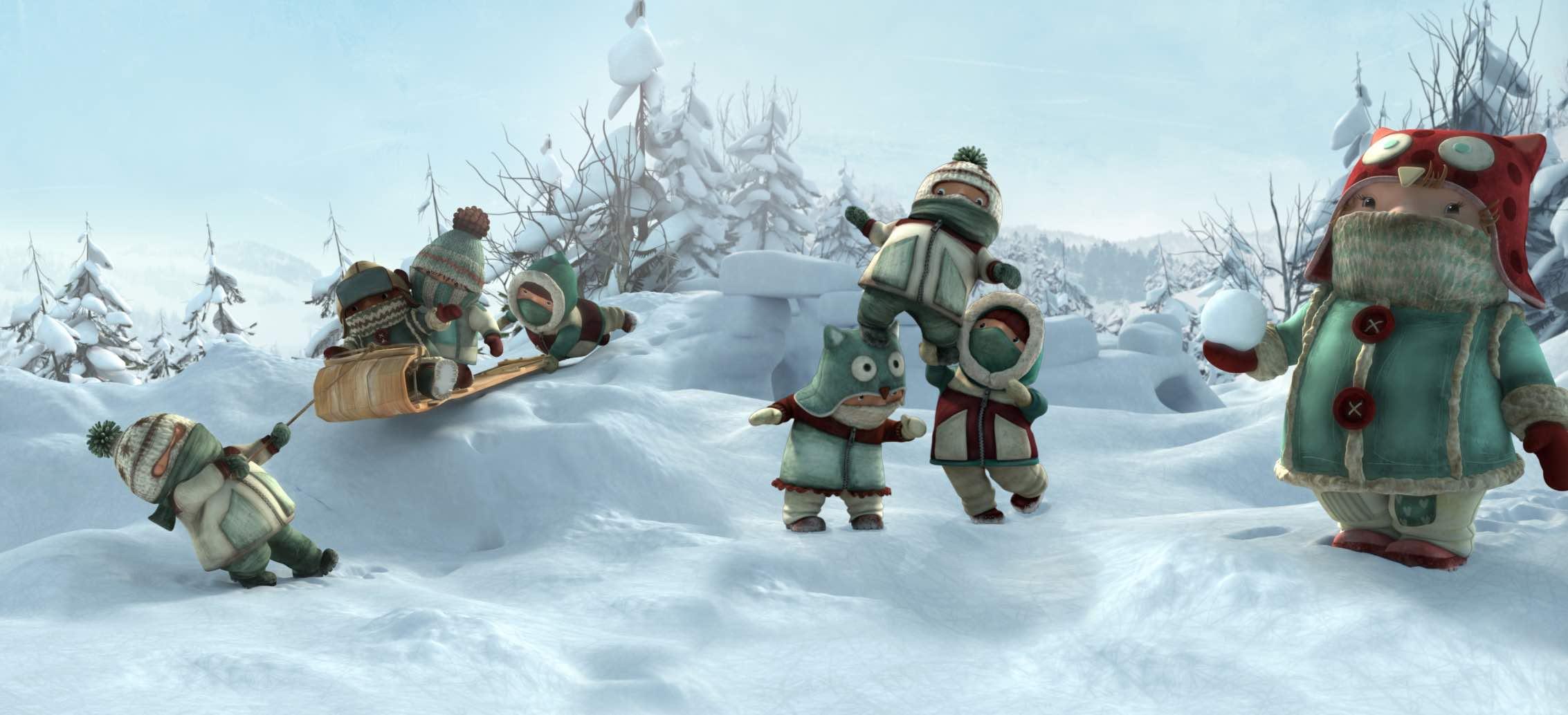 Snowtime preschoolers