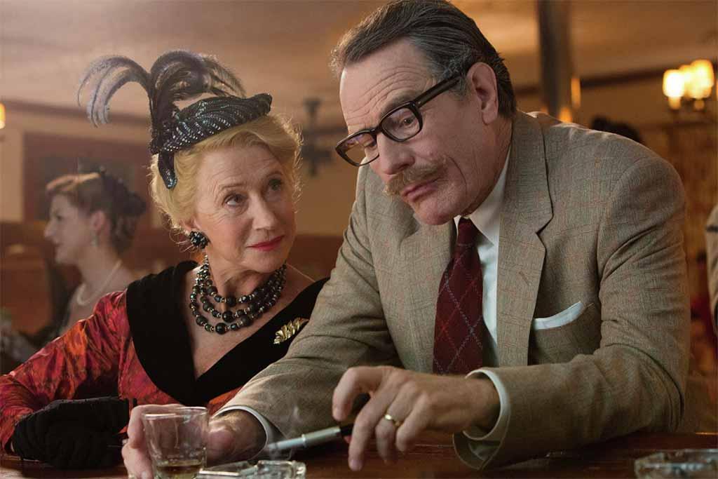 Trumbo starring Helen Mirren as Hedda Hopper, Bryan Cranston as Trumbo