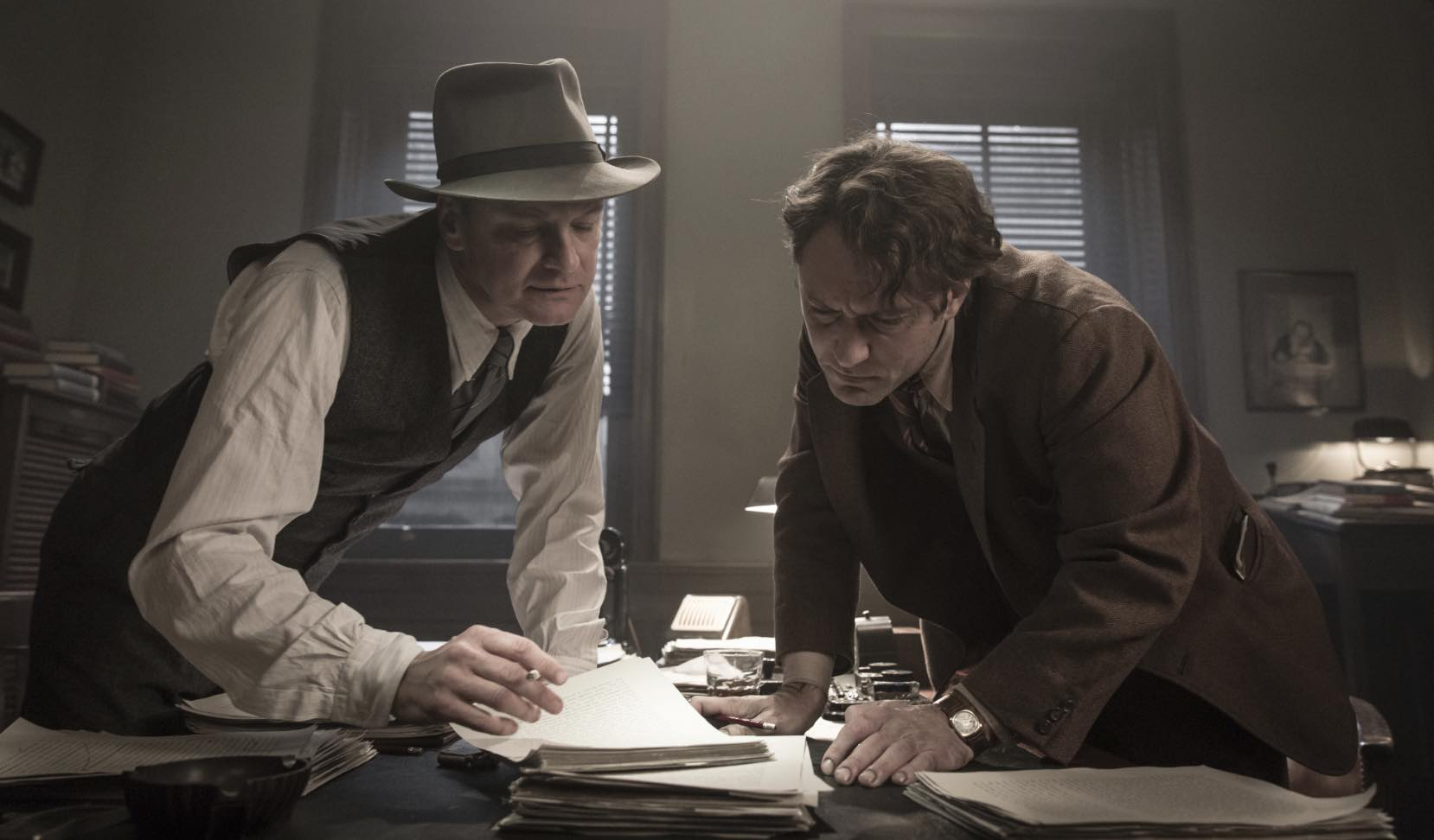 Colin Firth Jude Law Genius Movie