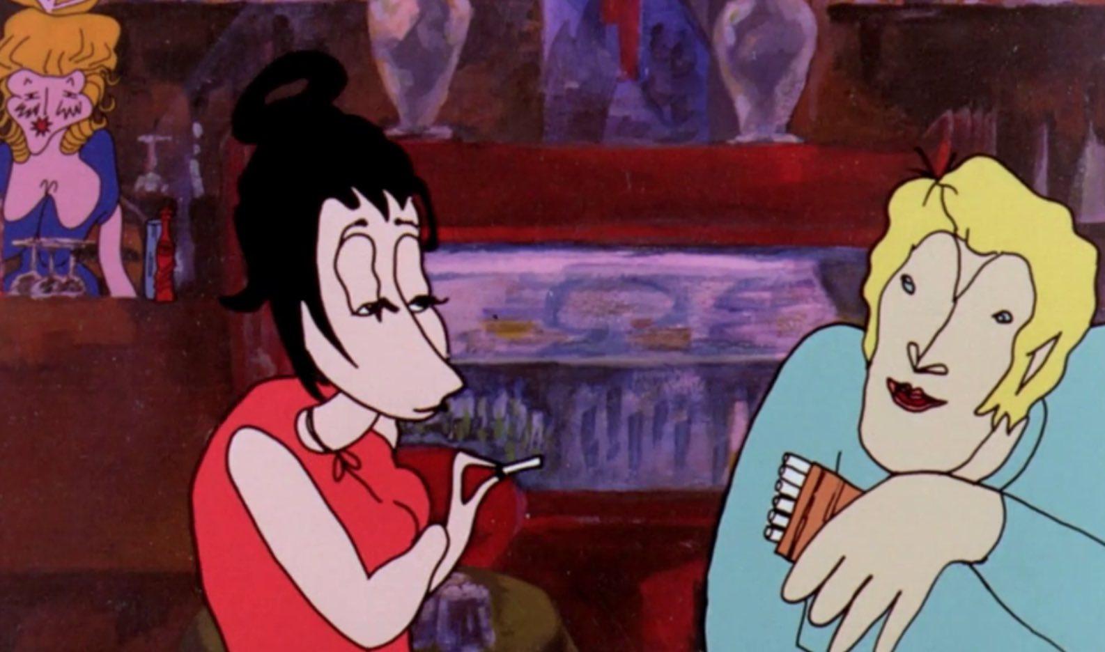Gyorgy Kovasznai's Nights in the Boulevard Ruben Brandt animation Hungarian