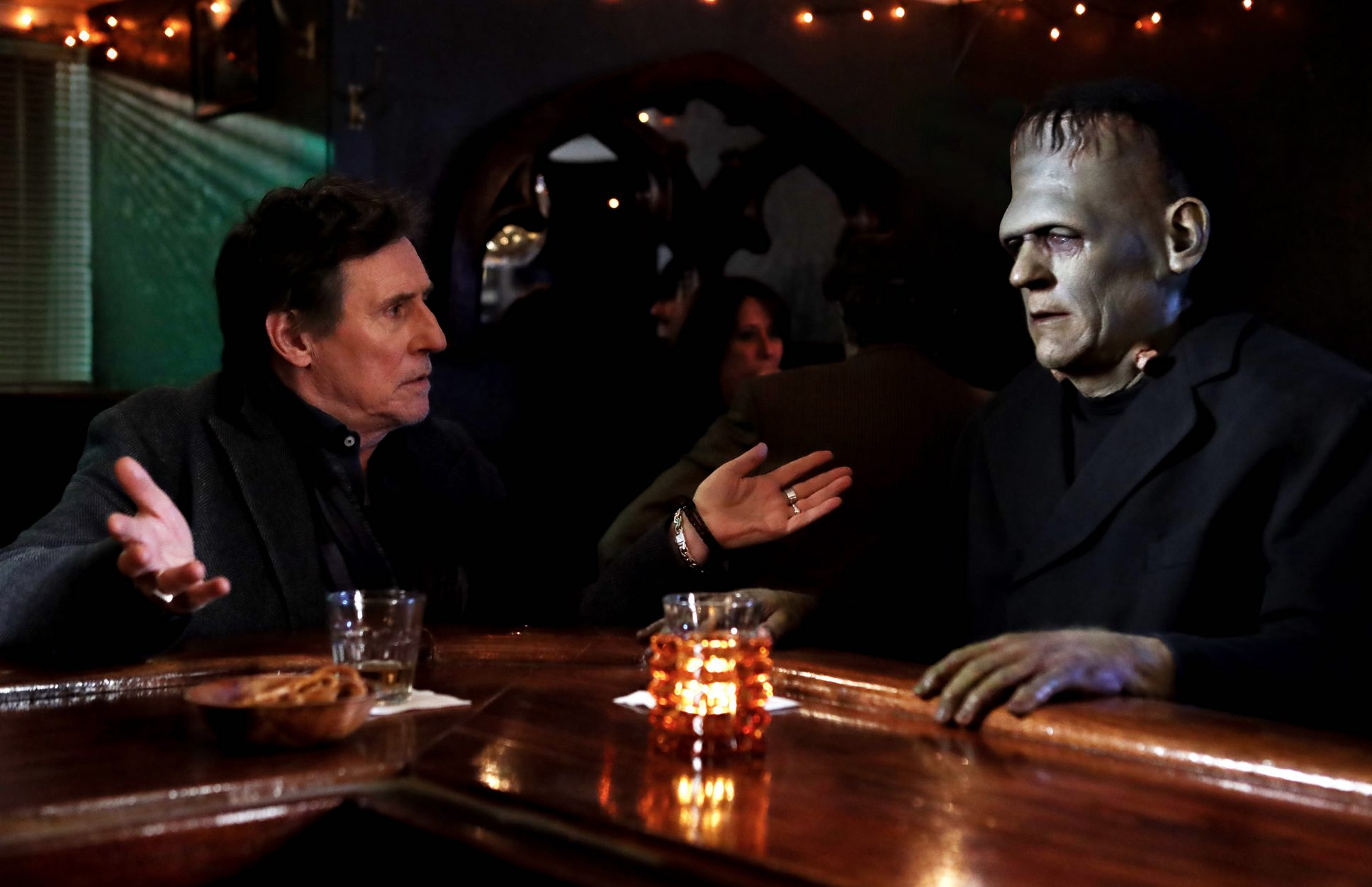 Death of a Ladies Man Gabriel Byrne Frankenstein production still