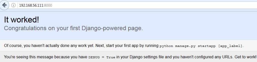 Django Interface