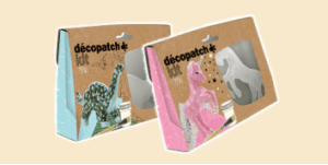 Décopatch Mini Kits decoupage range featuring animals, dinosaurs and unicorns