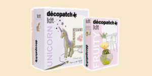 Décopatch Family and Adult decoupage activity kits with mache, brush, glue and papers