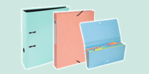 Exacompta Aquarel Filing Stationery Collection in an array of pastel colours