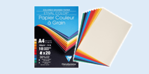 Clairefontaine 'Etival Color' coloured paper for fine art and handicraft