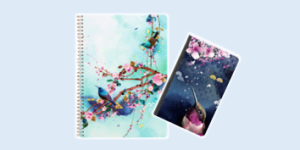 Clairefontaine Sakura Dream stationery collection featuring filing and notebooks