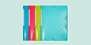 Exacompta Elasticated three-flap folders for filing and organisation