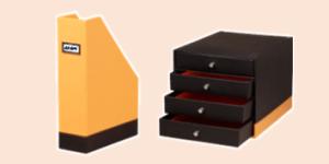 Rhodia desk/desktop accessories such as magazine racks, desk drawers