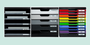 Exacompta Modulo modular office storage, available from ExaClair Limited