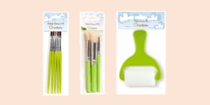 Avenue Mandarine brushes and rollers for paint and stnecil activities