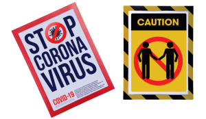 Exacompta Magnetic Sign Holders for Coronavirus and Business Use