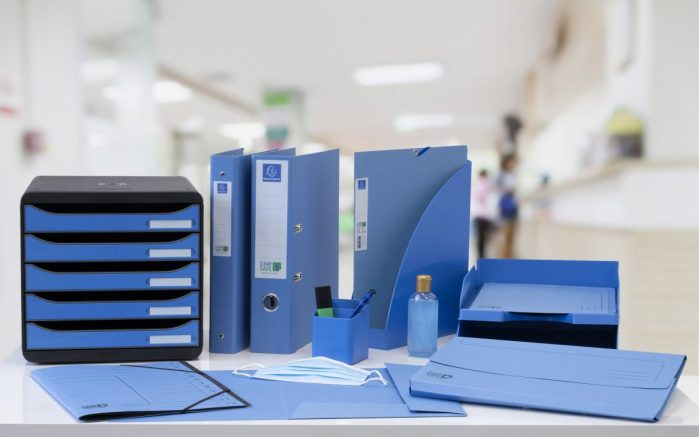 Clean'Safe antimicrobial filing stationery in a medical environment