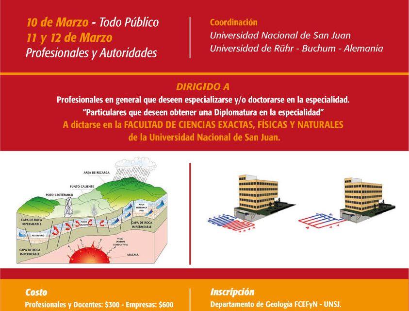 Especialistas en Geotermia exponen en la Facultad de Exactas