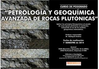 Curso de Posgrado: Petrología y Geoquímica Avanzada de Rocas Plutónicas